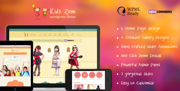 ThemeForest Kids Zone Responsive Children Theme 6787343