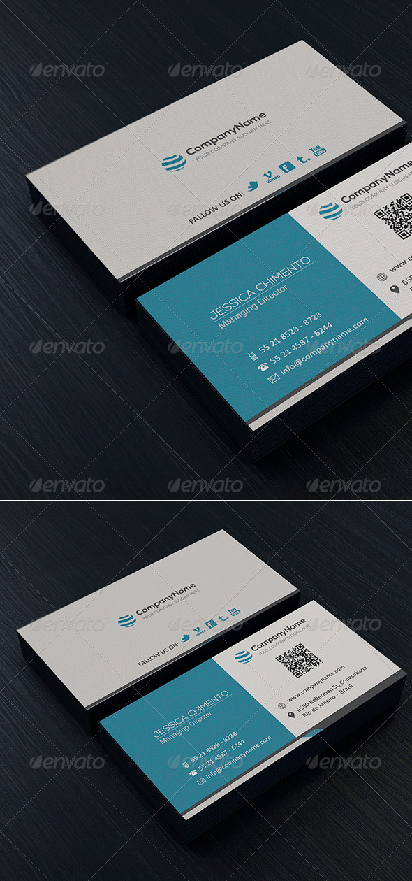 Clean Business Card Vol 3 - Corporate Business Cards