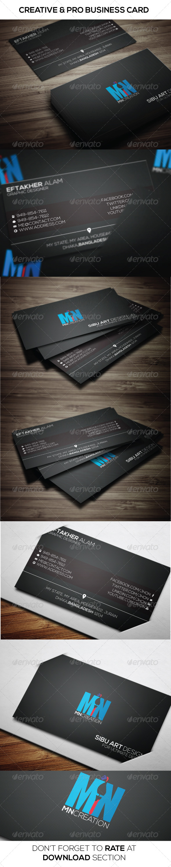 GraphicRiver Creative Pro Business Card 6797156