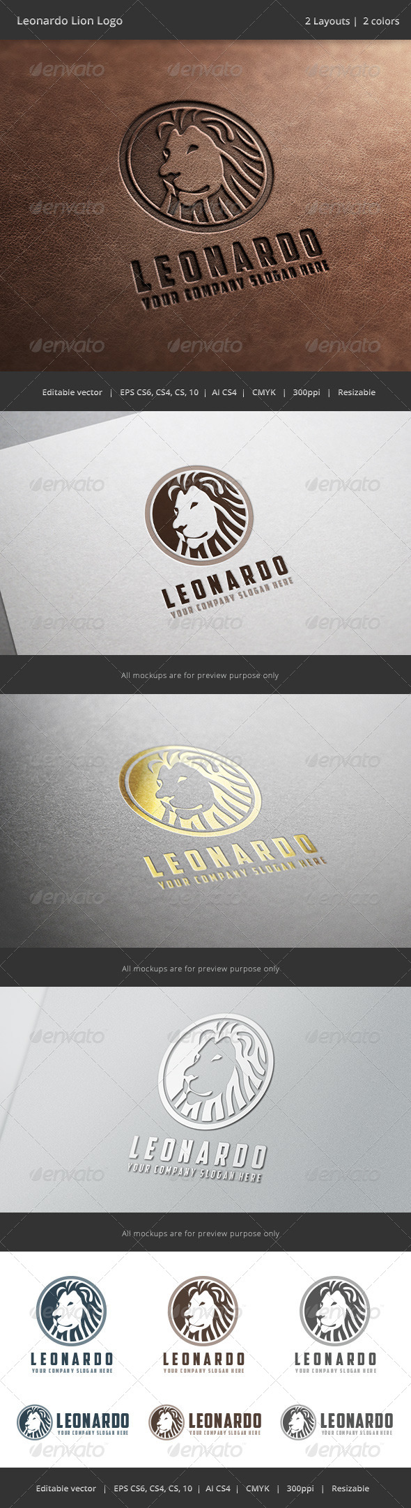 GraphicRiver Leonardo Lion Logo 6798172