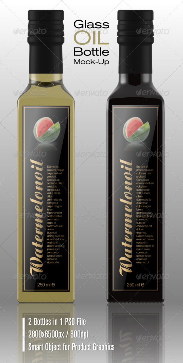 GraphicRiver Glass Oil Bottle Mock-Up 6798734