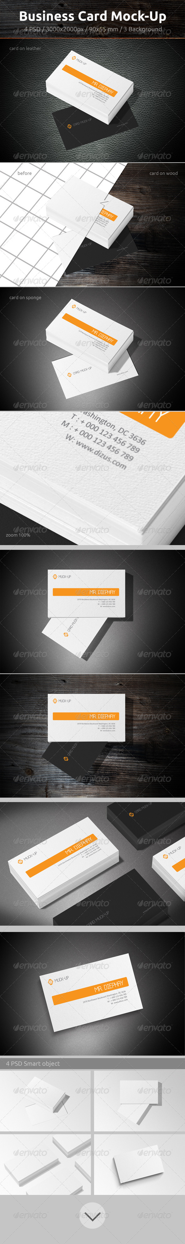GraphicRiver Business Card Mock-Up 6799048