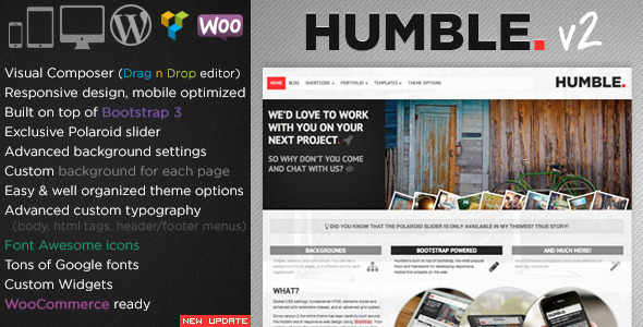 Humble. Responsive Multi-Purpose Drag n Drop Theme - Portfolio Creative