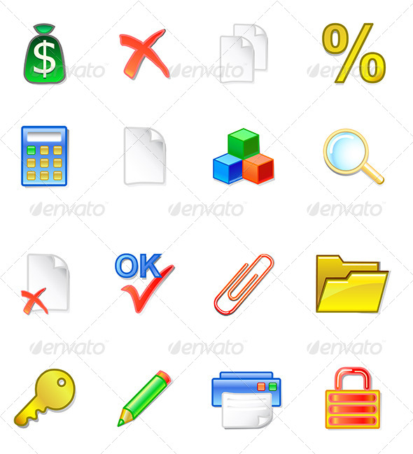GraphicRiver Accountant Icons 6799154
