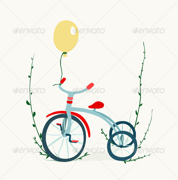 GraphicRiver Children s Tricycle Drawing 6799184