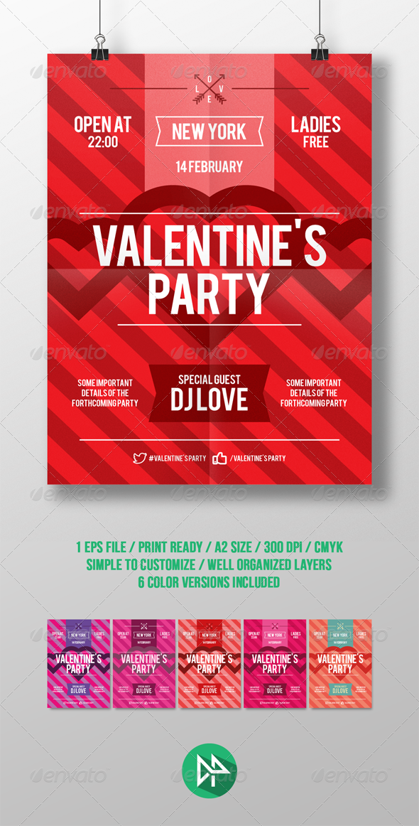 GraphicRiver Valentines Day Party Poster Template 6799993
