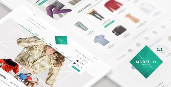 Modello - eCommerce PSD Template - Shopping Retail