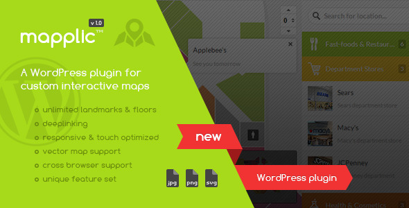 CodeCanyon Mapplic Custom Interactive Map WordPress Plugin 6800158
