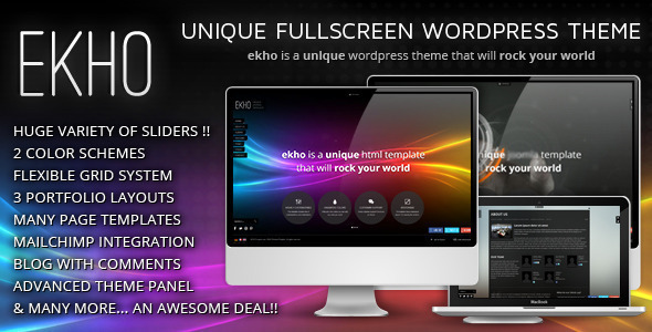 Ekho - Unique Responsive WordPress Theme - Creative WordPress