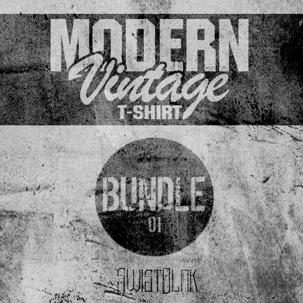 GraphicRiver Modern Vintage T-Shirt Bundle 01 6800167