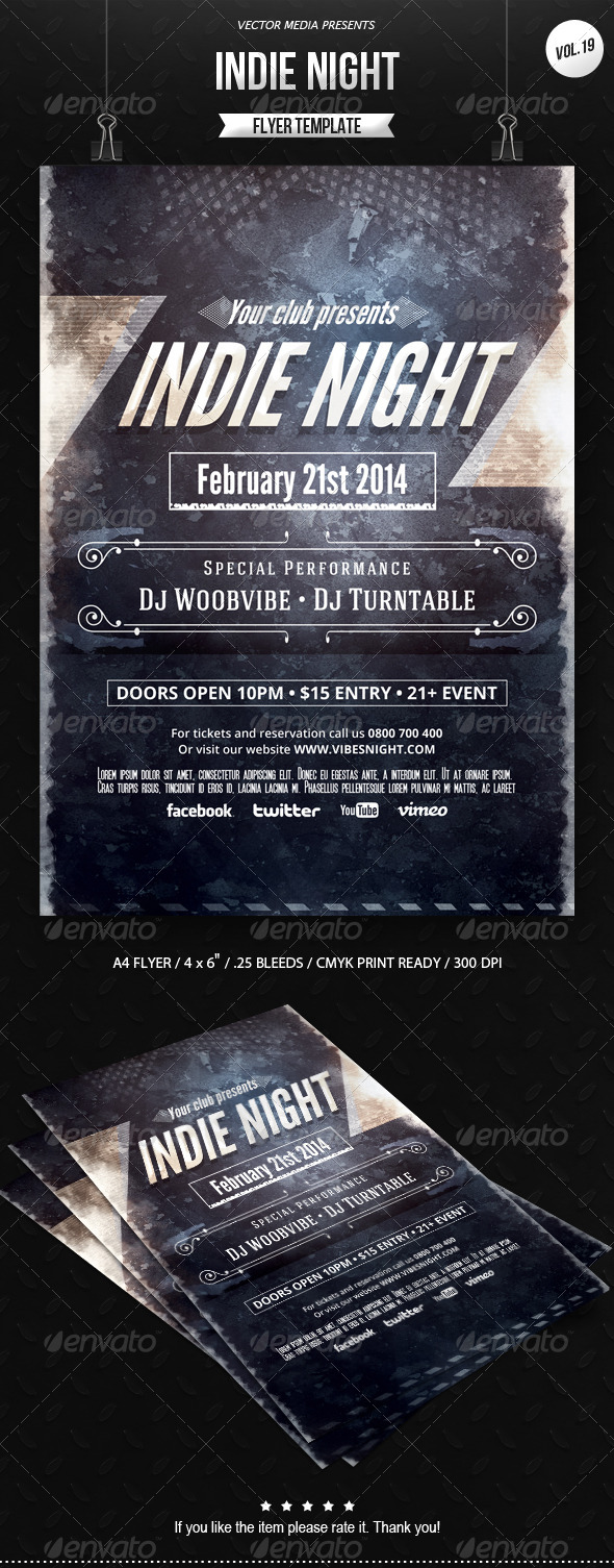 GraphicRiver Indie Night Flyer [Vol.19] 6800268