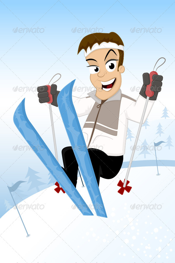 GraphicRiver Ski Jump 6800493