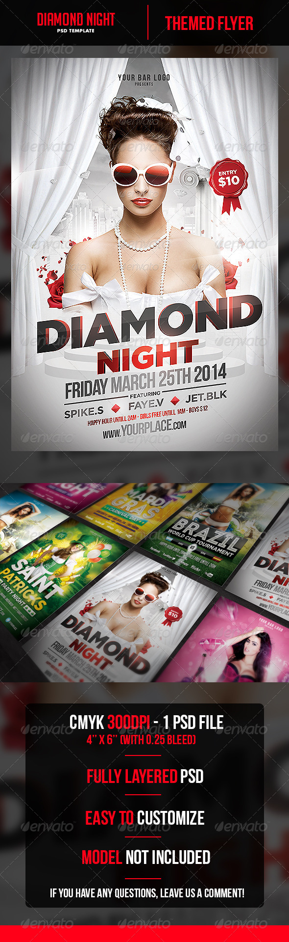 GraphicRiver Diamond Night Flyer Template 6800627