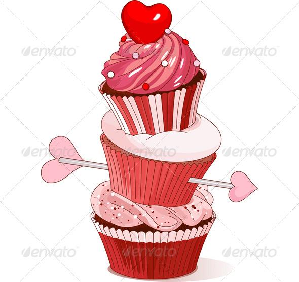 GraphicRiver Valentine Cupcakes 6801066