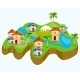 Drawing of the Land with House - GraphicRiver Item for Sale