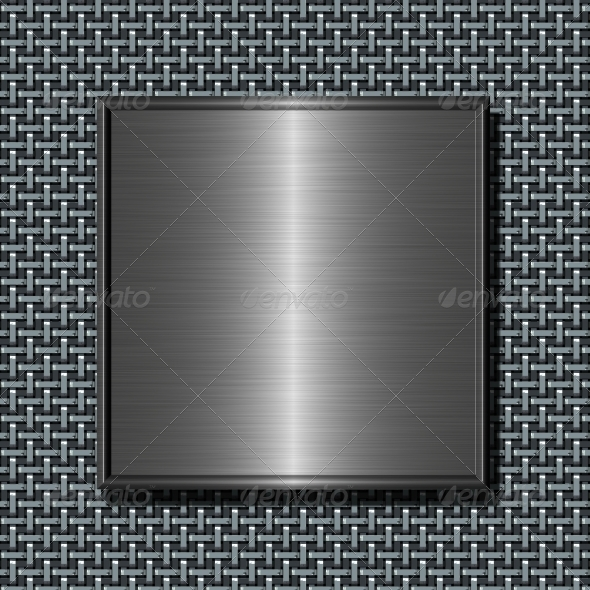 GraphicRiver Brushed Metal Plate 6801922