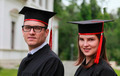 Portrait of a Couple in the Graduation Day - PhotoDune Item for Sale