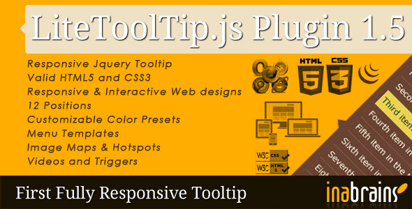 Lite Tooltip - Responsive jQuery Plugin - CodeCanyon Item for Sale