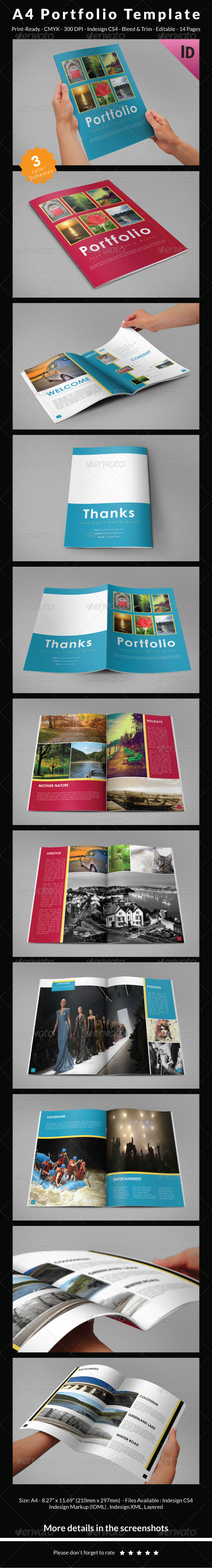 GraphicRiver A4 Portfolio Template 6804273