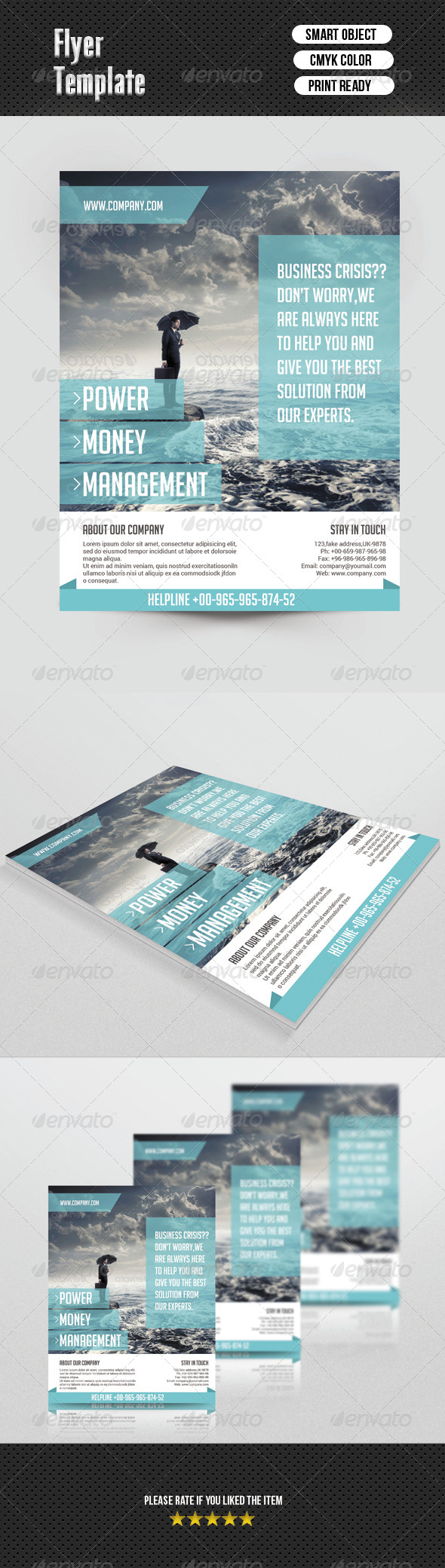 GraphicRiver Corporate Flyer Template 6804376