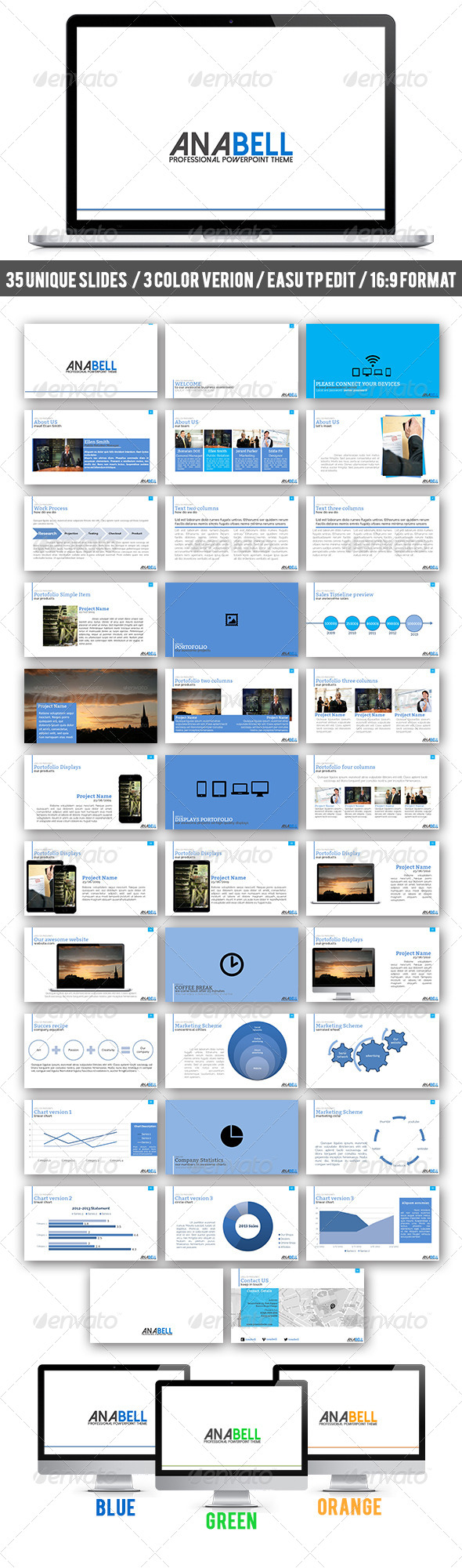 GraphicRiver Anabell PowerPoint Theme 6804496