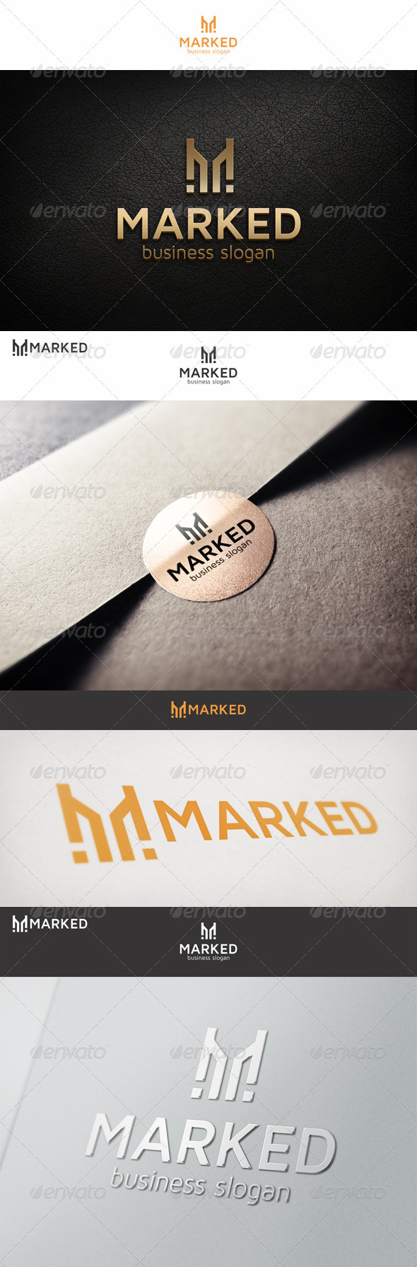 GraphicRiver Monogram M Simple Logo 6805168