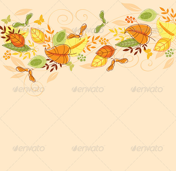 GraphicRiver Background with Autumn Leaves 6805234