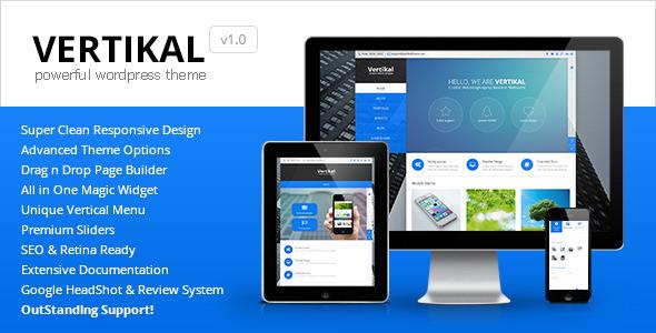 ThemeForest Vertikal Responsive WordPress Theme 6780563