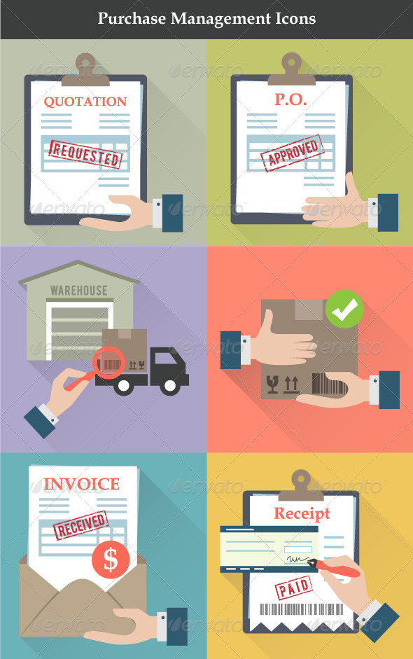GraphicRiver Purchase Management Icons 6805307