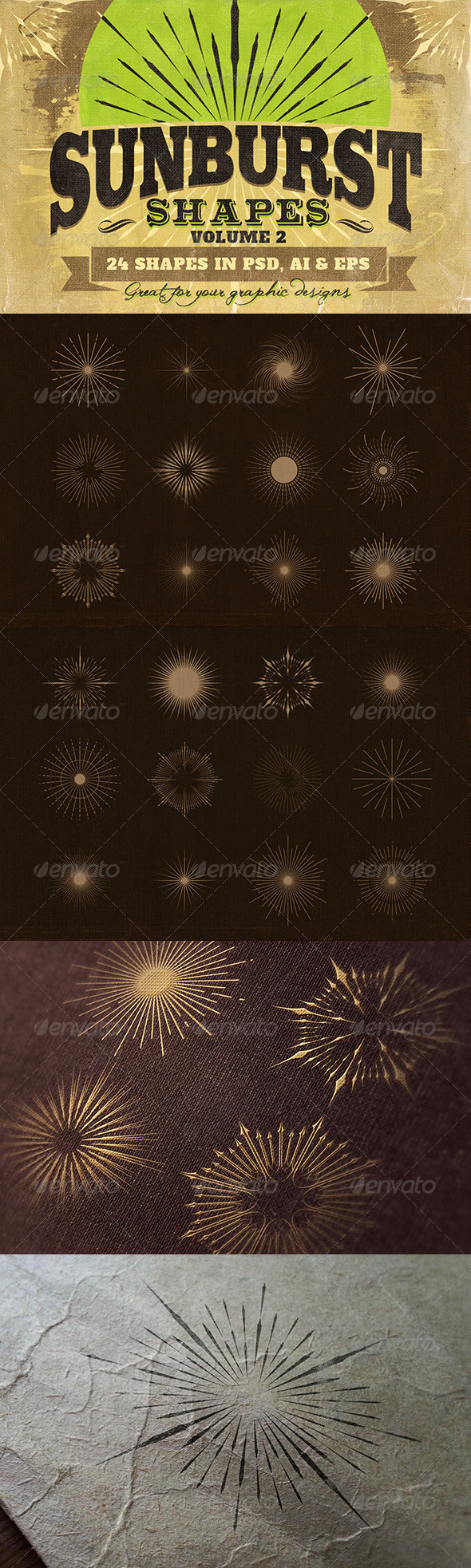 GraphicRiver Sunbursts Shapes Vol.2 6805528