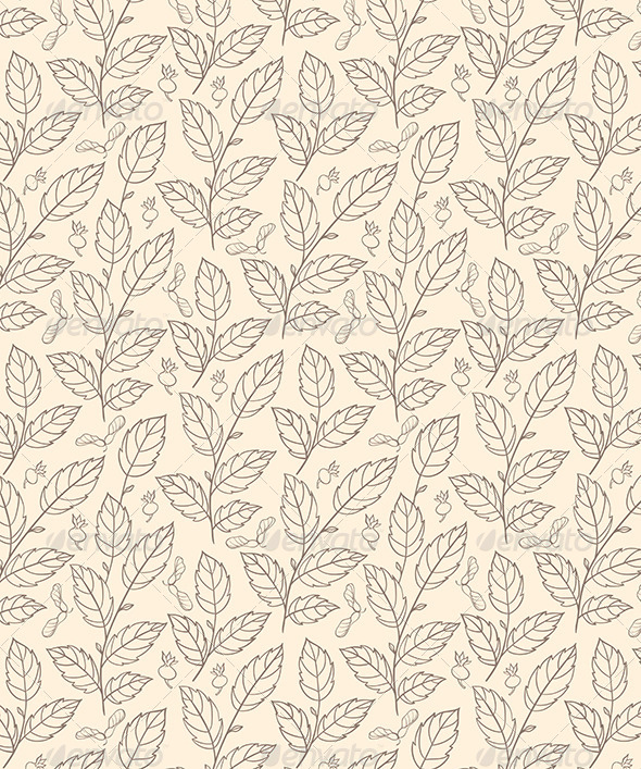 GraphicRiver Seamless Pattern with Elm Branches 6805673