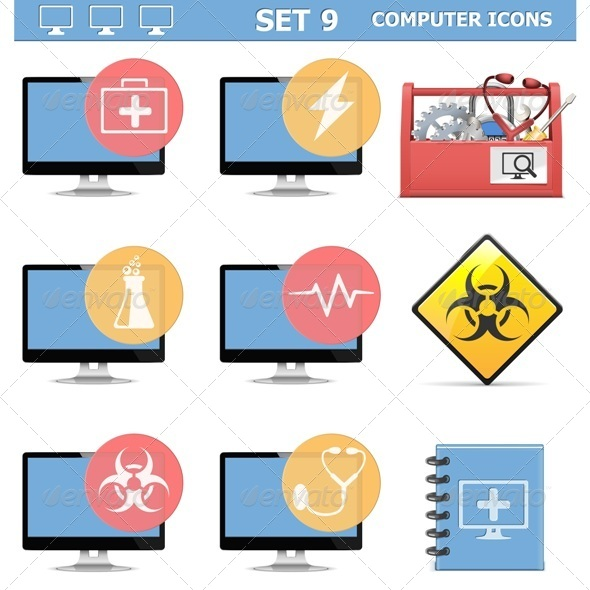 GraphicRiver Computer Icons Set 9 6805756