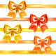 Golden and Bronze Bows of Silk Ribbon - GraphicRiver Item for Sale