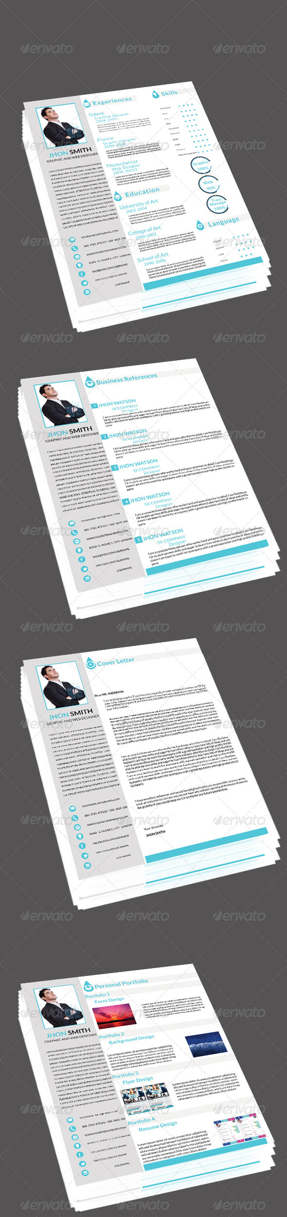 GraphicRiver Clean & Modern Resume CV 6806861