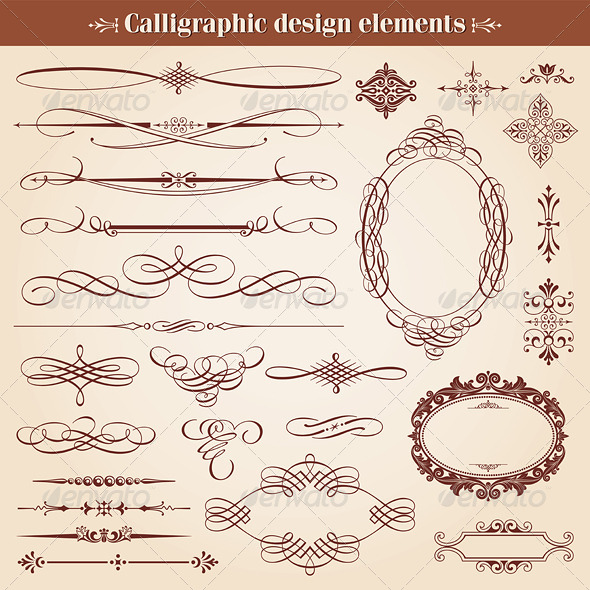 GraphicRiver Calligraphic Design Elements And Page Decoration 6808396