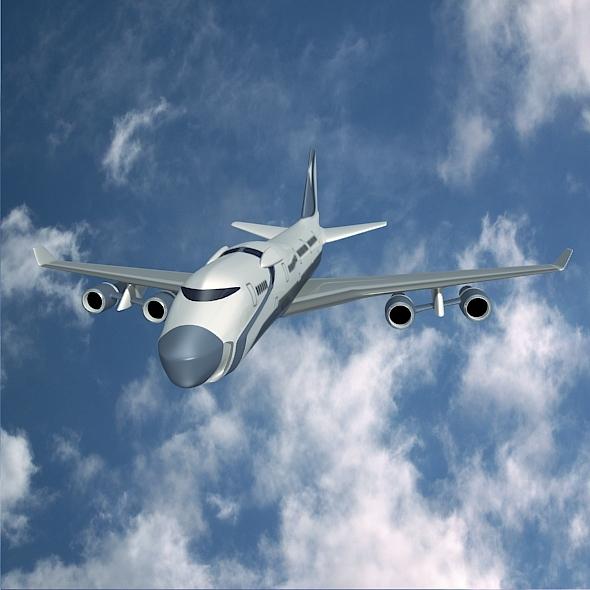 3DOcean Futuristic aircraft concept 6808710