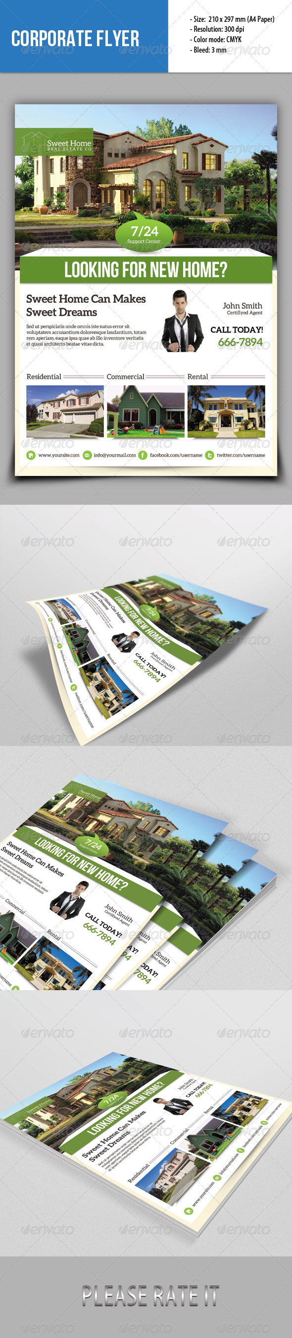 GraphicRiver Real Estate Flyer 6809579