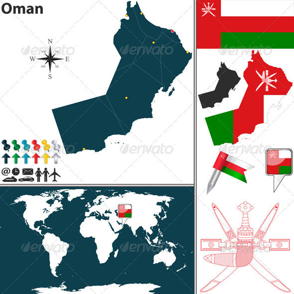 GraphicRiver Map of Oman 6810066