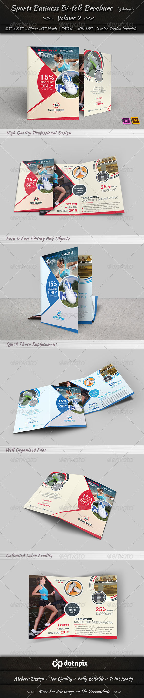 GraphicRiver Sports Business Bi-Fold Brochure Volume 2 6810083