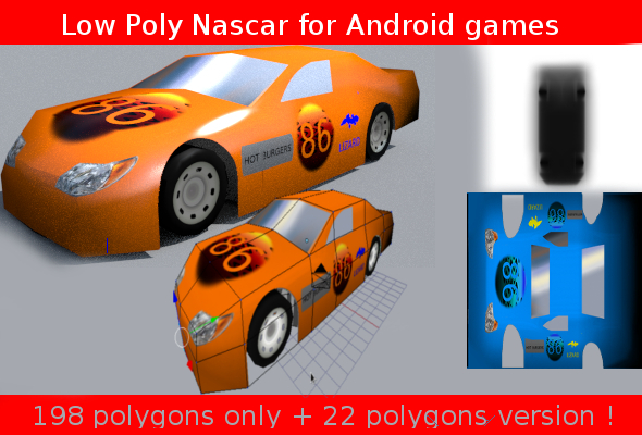 3DOcean low poly nascar 6811334