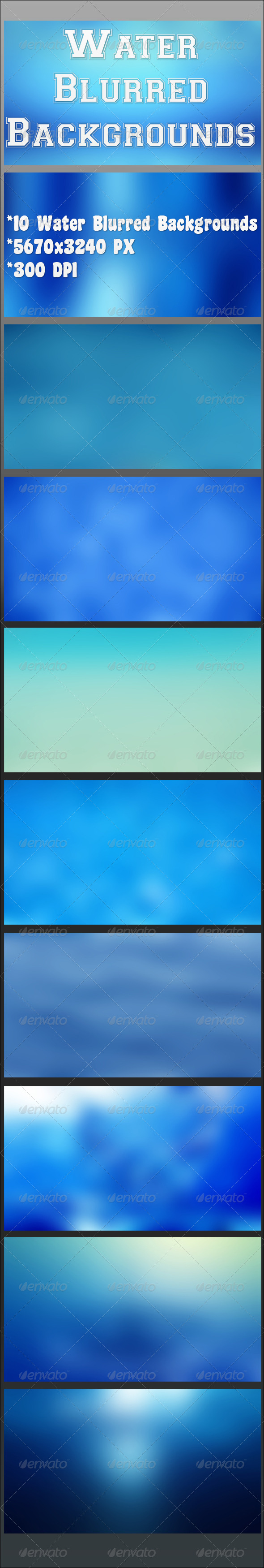 GraphicRiver Water Blurred Backgrounds 6812443