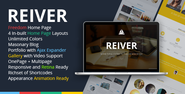 ThemeForest REIVER WordPress One Page Responsive Portfolio 6812743