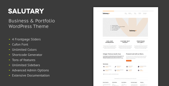 Salutary - Business & Portfolio WordPress Theme