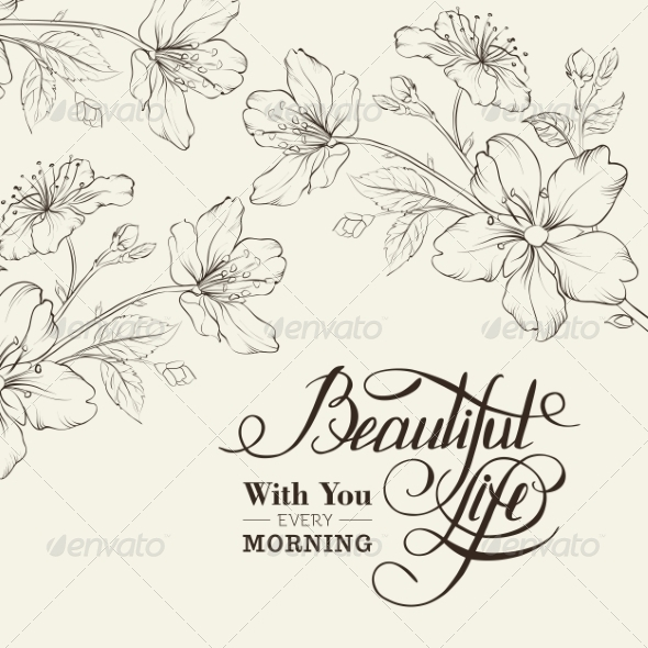 GraphicRiver Calligraphy Cherry Blossom 6813014
