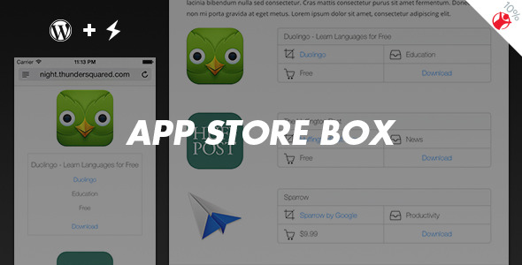 App Store Box - Fancy reviews maker for WordPress - CodeCanyon Item for Sale