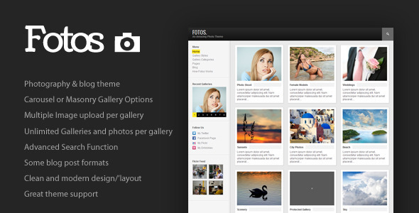 Fotos wordpress theme download