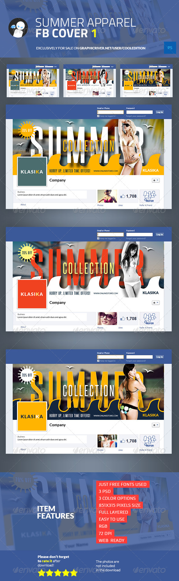 GraphicRiver Summer Apparel Facebook Cover 1 6814304