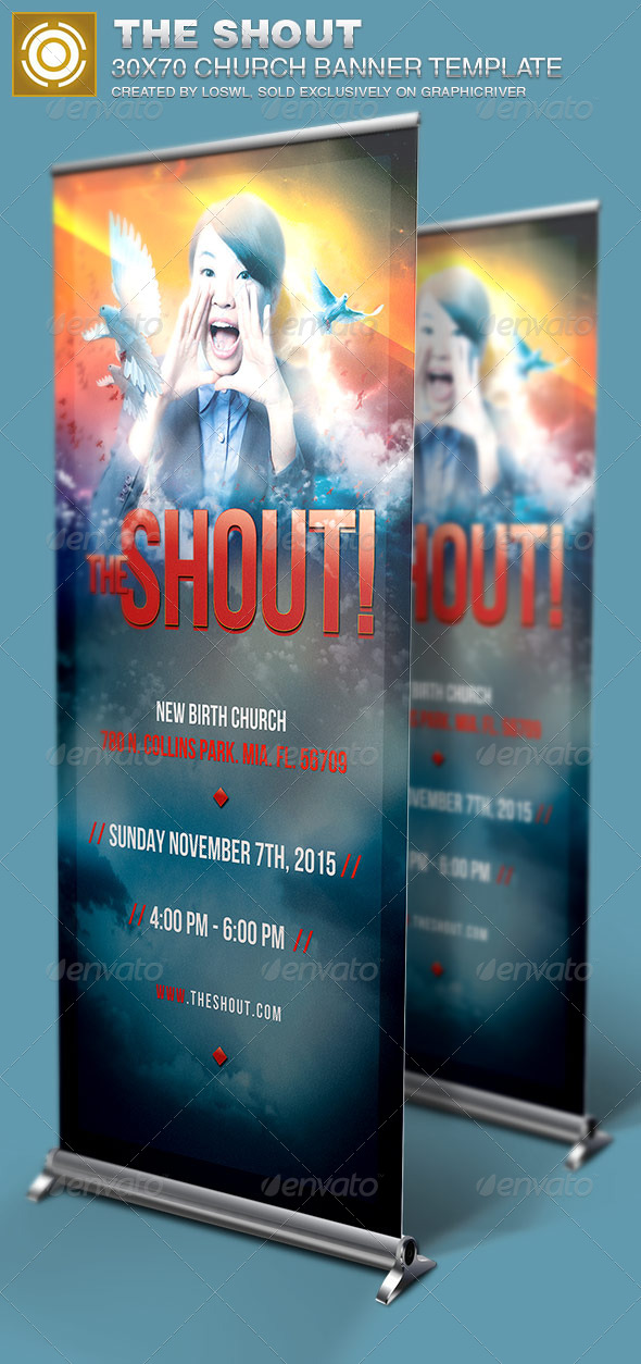 GraphicRiver The Shout Church Banner Signage Template 6815480