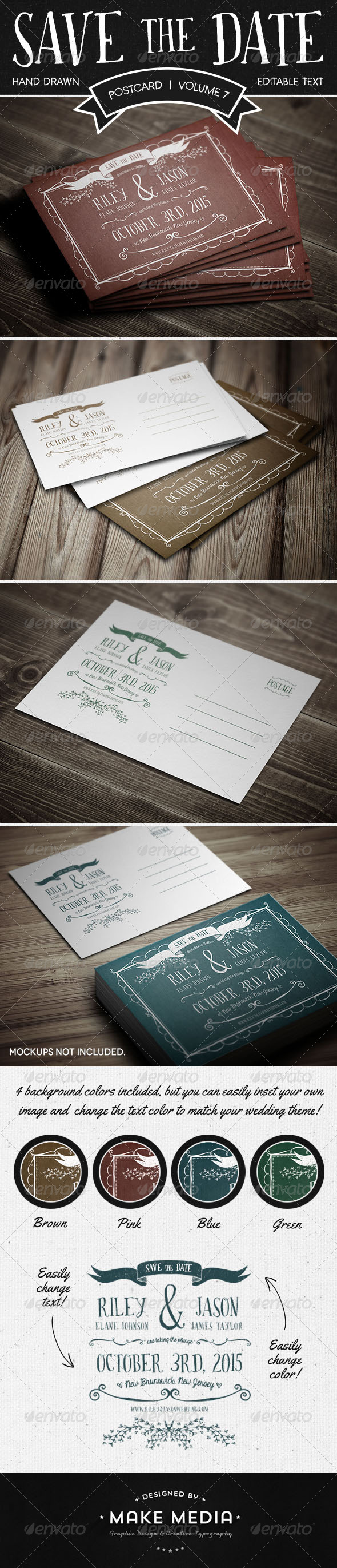 GraphicRiver Save The Date Postcard Volume 7 6815558