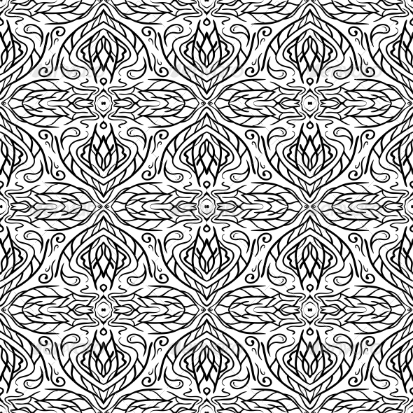 GraphicRiver Seamless Abstract Hand Drawn Pattern 6817139